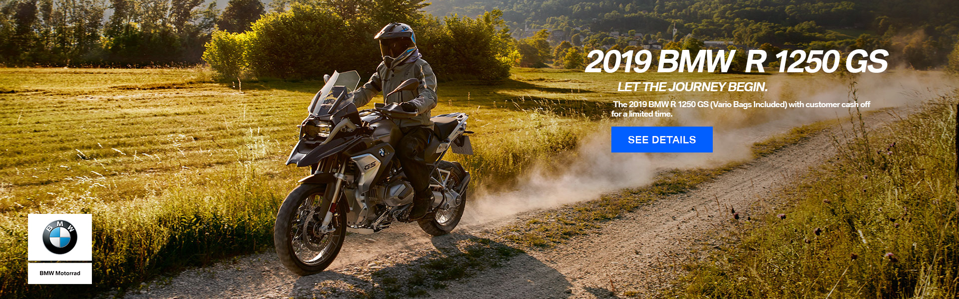 2019 BMW R1250 GS Vario Bags Included